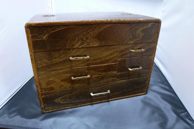 針箱・裁縫箱|木製|古民芸|骨董  2015-005