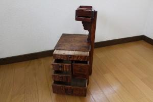 昭和の頃の針箱|木製|針箱・裁縫箱  2015-007